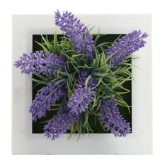 tongzhi 3D Imitation Frame Shape Wall Hanging Artificial Flowers Metope Fake Succulents For Decoration (07#)