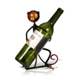 Brand New Tooarts Metal Sculpture Monkey Shaped Wine Rack Wine Bottle Holder Home Furnishing Articles Handicrafts Export