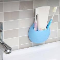 Coupon Toothbrush Holder Suction Cup Organizer Bathroom Kitchen Storage Tool Blue