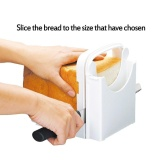 Top Rated Adjustable Bread Roast Loaf Slicer Cutter Bread Cutting Slicing Guide Abs Environmentally Friendly Plastic Foldable White Intl Discount Code