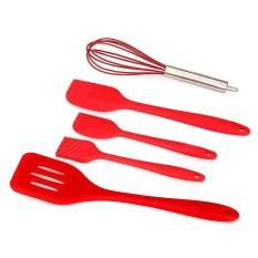 Toprank New 5Pcs Silicone Kitchen Utensils Set Turner Spatulas Brush Cooking Tools - intl