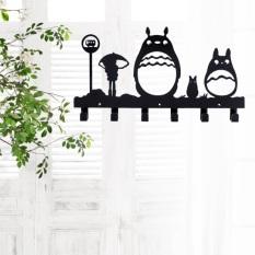 Totoro Wall Hanger (black) By Diycottage4u.