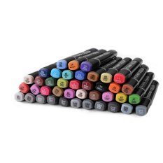 Touchnew 40 Color Marker Pens Alcohol Graphic Art Twin Broad Fine Point Th413 On Singapore