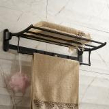 Sale Towel Rack European Antique Folding Towel Rack Stainless Steel Bathroom Hardware Pendant Black 60 25 12Cm Intl Oem Wholesaler