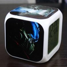 Retail Transformers Alarm Clock Digital Klokken Electronic Desk Watch Wakeup Light Plastic Led 7 Color Intl