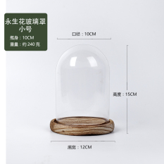 Small Seal Transparent Glass Cover Bell Freshness Preserved Fresh Flower Dust Cover Micro-View Vase Creative Gifts Decoration