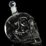Transparent Hand Blown Crystal Skull Head Vodka Whiskey Wine Shot Glass Bottle Bar Home Drinking Ware 1000Ml Intl Promo Code