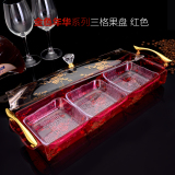 Promo Transparent Seperated With Lid European Candy Box Dry Fruit Bowl