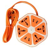 Where To Shop For Travel Extension Cord With 4 Universal Sockets And 4 Usb Ports Orange Export