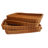 Review Tray Square Imitation Rattan Baskets Bread Basket On China