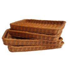 Best Rated Tray Square Imitation Rattan Baskets Bread Basket
