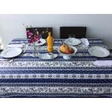 Discount Treated 100 Cotton French Tablecloth Provence Dark Blue Strip Others On Singapore