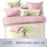 Latest Tree Design Bed Sheets Set Fitted Bedsheet