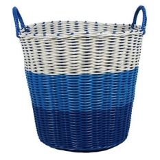 Tri Colour Woven Laundry Basket Blue Coupon Code