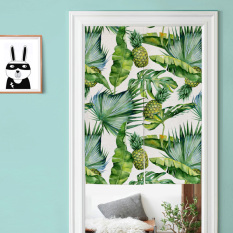 Purchase Tropical Plant Entrance Curtain Bedroom Decorative Fabric Half Curtain Online