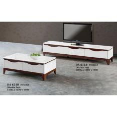 Troy Marble Top Coffee Table + TV Console (FREE DELIVERY)