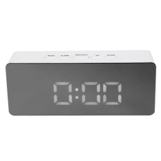 TS-S69 Multifunction Digital LED Mirror Clock Alarm with Temperature Snooze (White) - intl