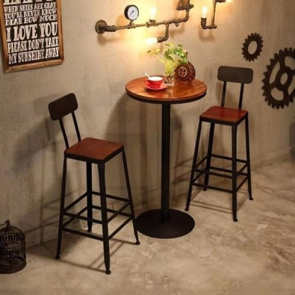 TSBT002 High Bar Table (60x60x105cm, 3cm thickness) TSBT