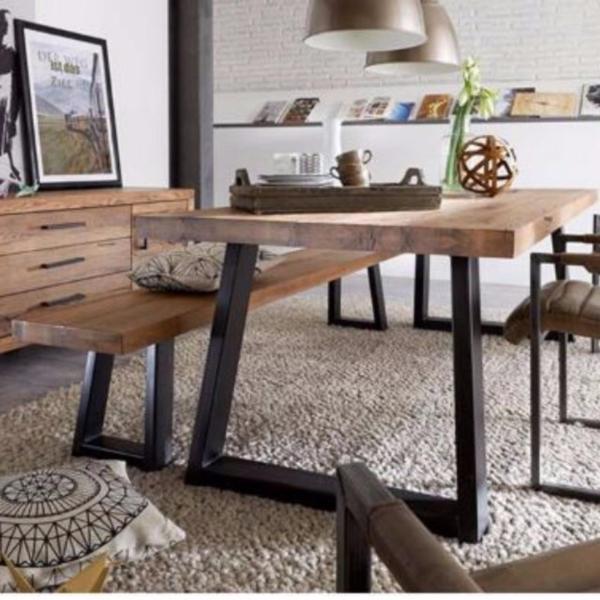 TSDT00A Solid Wood Dining Bench (L120xW30xH45cm) TSDT
