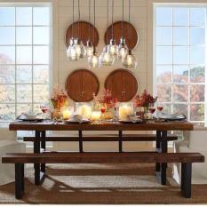 TSDT00B Retro/Loft Solid Wood Dining Table ( L120XW80XH75cm)
