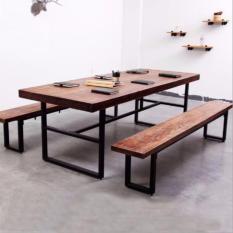 TSDT00F Retro/Loft Solid Wood Dining Table (L140xW90xH75cm)