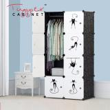Where To Shop For Tupper Cabinet 8 Cubes Lazy Cat Sticker Design Diy Wardrobe Organizer Elegant Black