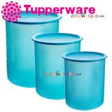 Retail Price Tupperware Airtight One Touch Topper Blue 3In1 Set 1 25 2 3L