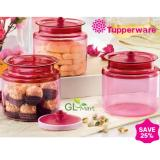 Brand New Tupperware Chinese New Year Cny Counterpart Air Tight For Cookies Storage 3Pcs