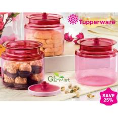 Sale Tupperware Chinese New Year Cny Counterpart Air Tight For Cookies Storage 3Pcs Tupperware