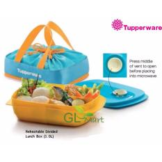 Great Deal Tupperware Reheatable Divided Dish Lunch Box 1L Microwaveable With Pouch