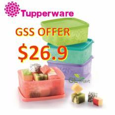 Get Cheap Tupperware Snowflake Square Round 400Ml Kitchen Storage Food Container Fridge Freezer