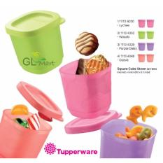 Cheap Tupperware Square Cube Storer 110Ml Mini Canister Sch**L Snack Container Food Storage Random Colour Online
