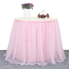 Purchase Tutu Tulle Table Skirt Cloth For Party Wedding Home Decor Intl Online