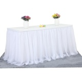 Buy Tutu Tulle Table Skirt Cloth For Party Wedding Home Decoration White Intl Cheap On China