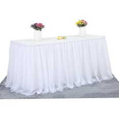 Compare Prices For Tutu Tulle Table Skirt Cloth For Party Wedding Home Decoration White Intl
