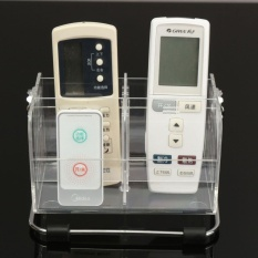 TV Remote Control Phone Key Pen Glasses Organizer Storage Box Clear Stand Holder - intl