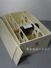Twelve wine bottled wine wooden box
