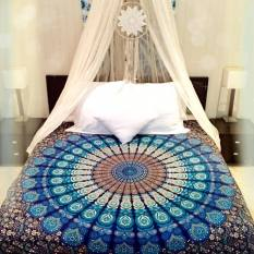 Twin Hippie Tapestry Wall Hanging Indian Mandala Tapestries Bedspread Wall Decor Dark Blue - intl