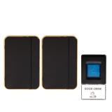Sale Twin Plug In Wireless Cordless Digital Door Bell Chime Doorbell Black 2 Rec Intl