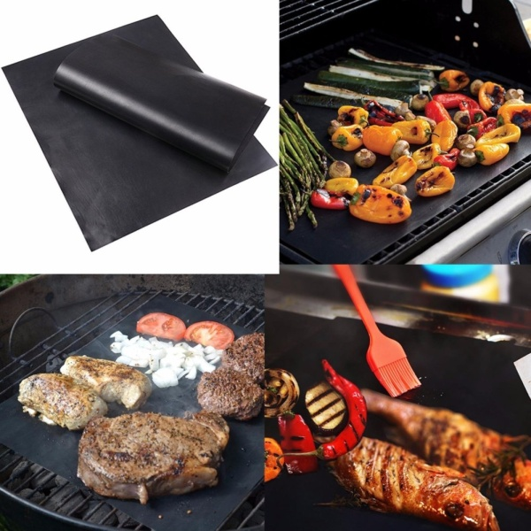 [SG Seller]Two Pack Home Garden Outdoor Copper Chef Grill and Bake Mats Camping BBQ Pad Tool