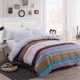 Best Buy Two Tone Pattern Sanding Cotton Duvet Quilt Cover Full Queen King Size Intl