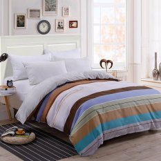 Two Tone Pattern Sanding Cotton Duvet Quilt Cover Full Queen King Size Intl Coupon Code