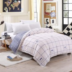 The Cheapest Two Tone Pattern Sanding Cotton Duvet Quilt Cover Full Queen King Size Intl Online
