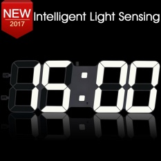How To Buy Txl 17 3 Jumbo Digital Led Wall Clock 3D Large White Digital Wall Clock With Multifunction 12 24Hour Minute Alarm Clock Mute Clock White Intl