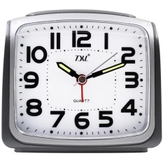 Purchase Txl Silent Alarm Clock Digital Desk Alarm Clock Smart Light Sensor With Dimmer Advance Snooze Sweep Seconds Battery Powered Analog Quartz Bedside Clock White Intl Online