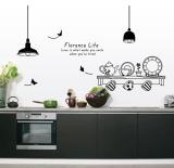 Price Comparisons For Ufengke Uf Wl0559 Kitchenware Wall Sticker Black Export