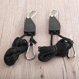 Buying Uinn 1 Pair 1 4 330Lbs Hangers Rope Ratchet For Led Plant Filter Grow Light Black Intl