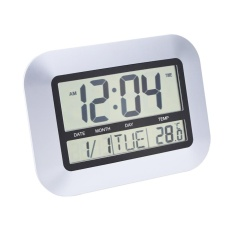 UINN Self Setting Digital Home Office Decor Wall Clock With Indoor Temperature Ts-H128Y - intl