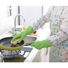 Price Comparison For Ultra Protective Rubber Gloves For Kitchen And Household Chores Green