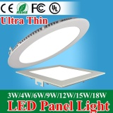 Discount Ultra Thin Led Panel Downlight 3W 4W 6W 9W 12W 15W 18W Round Square Led Ceiling Recessed Light Ac85 265V Led Panel Light 9W Round White Intl Oem China